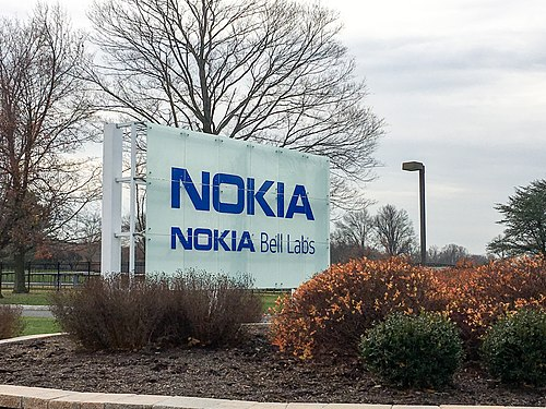 Nokia Bell Labs entrance sign at New Jersey headquarters in 2016 Nokia Bell Labs sign.jpg