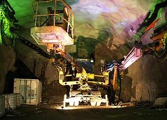 Norra länken - The tunnel in October 2009
