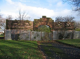 Norris Green Park - Remains of Norris Green mansion