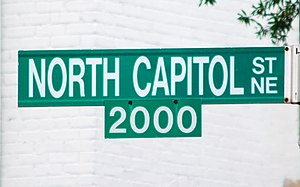 North Capitol Street - North Capitol Street sign
