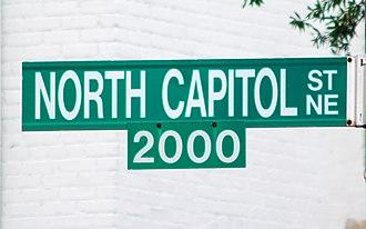 North Capitol Street - North Capitol Street sign