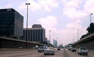 Central Expressway (Dallas) - Central Expressway at Fitzhugh Avenue