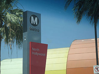 Red Line (Los Angeles Metro) - North Hollywood is the northern terminus of the Red Line in the San Fernando Valley