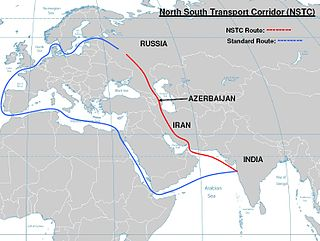 International North–South Transport Corridor Corridor for trade connectivity from Moscow to Mumbai through Central Asia