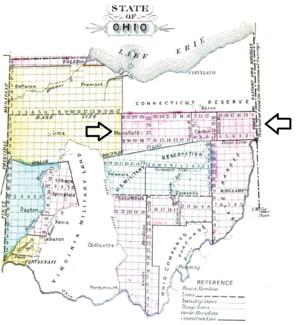 Congress Lands North of Old Seven Ranges - Image: North of Old Seven Ranges