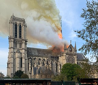 April 2019 fire at the cathedral of Notre-Dame de Paris, France