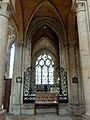 Noyon (60), cathédrale Notre-Dame, bas-côté sud, 3e travée, vue vers le sud dans la chapelle du Saint-Sacrement.jpg