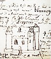 Nunney Castle 1644 drawing.jpg