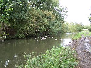 Nutbrook Canal - Parts of the canal still have water in 2006
