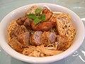 Nyonya Curry Laksa with 5-Spice Loh Bak - whole bowl visible (371506882).jpg