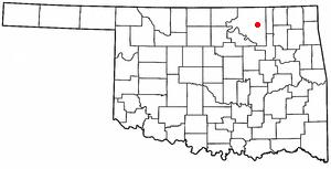 Barnsdall, Oklahoma - Image: OK Map doton Barnsdall