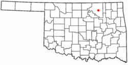 Location of Wynona, Oklahoma