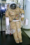 ORLAN DMA spacesuit and Model 21KS Cosmonaut Transference & Maneuvering Unit, USSR - Evergreen Aviation & Space Museum - McMinnville, Oregon - DSC00857.jpg