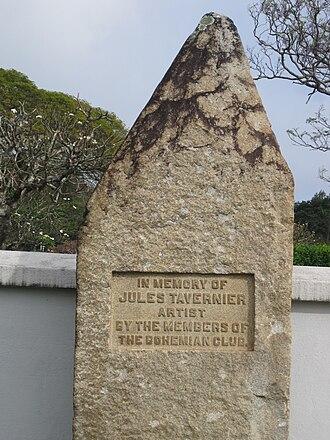 Jules Tavernier (painter) - Memorial to Jules Tavernier by members of the Bohemian Club, Oahu Cemetery, Honolulu