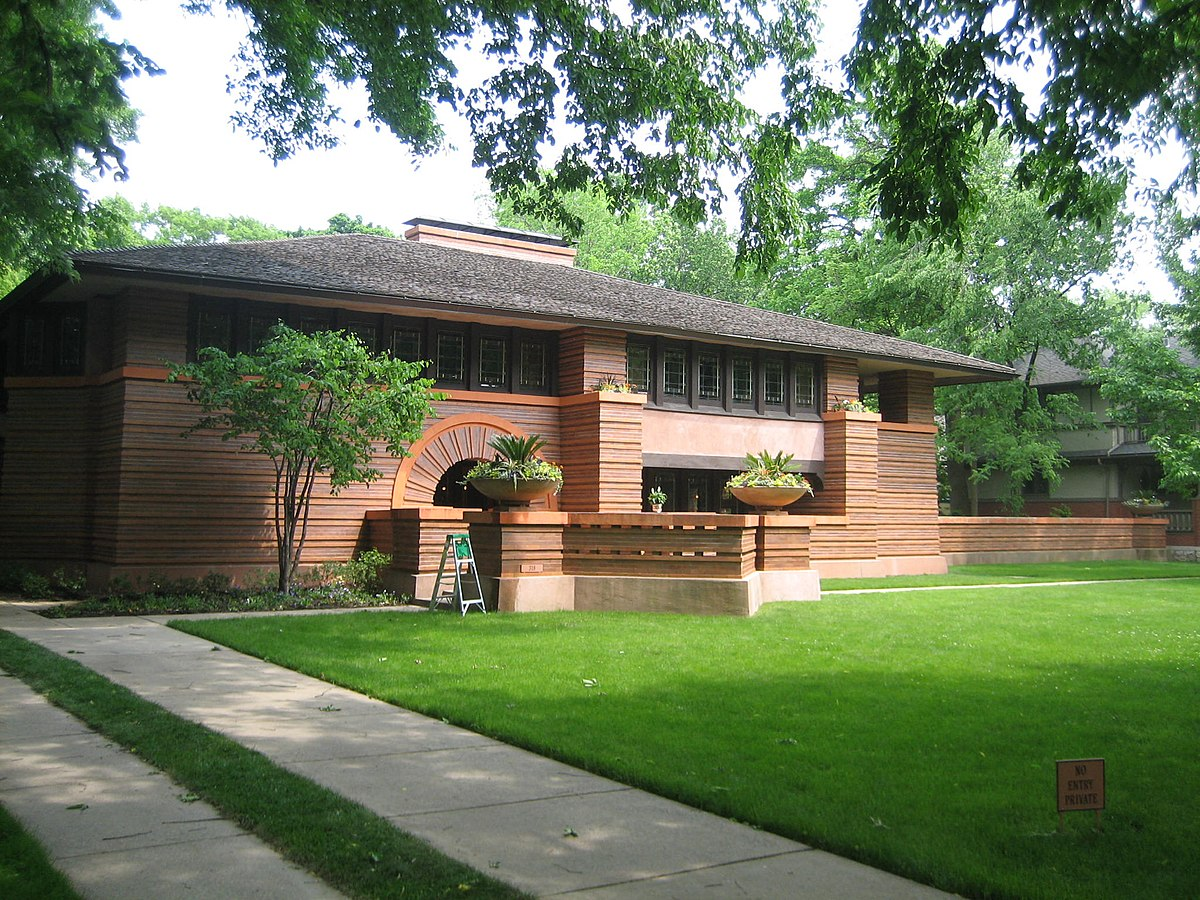 Arthur heurtley house wikipedia for Frank lloyd wright stile prateria