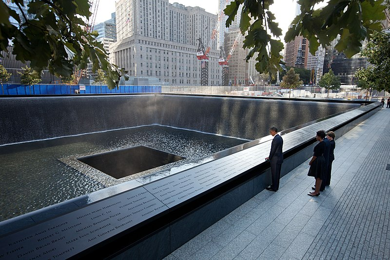 File:Obama Bush at National 911 Memorial.jpg