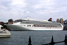 The vessel as SuperStar Leo in Sydney Harbour, 2004