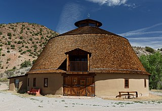 Ojo Caliente Hot Springs Round Barn a round barn that was built in 1924