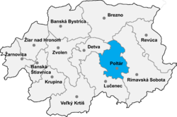 Location of Poltāras apriņķis