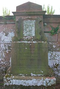 Vanha Dunscore Kirk ja hautausmaa - Cruel Lag memorial.JPG