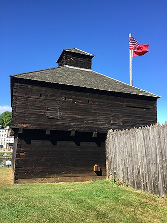 Augusta, Maine - A View of Old Fort Western.