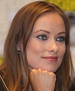 Olivia Wilde in a press conference.