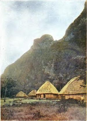 History of American Samoa - Olosega native village 1896