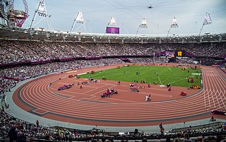 2012 in athletics (track and field) - The Olympic Stadium, which hosted the 2012 Olympic athletics