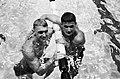 Olympische Spelen te Rome, Wieger Mensonides na het behalen van de derde plaats , Bestanddeelnr 911-5427.jpg