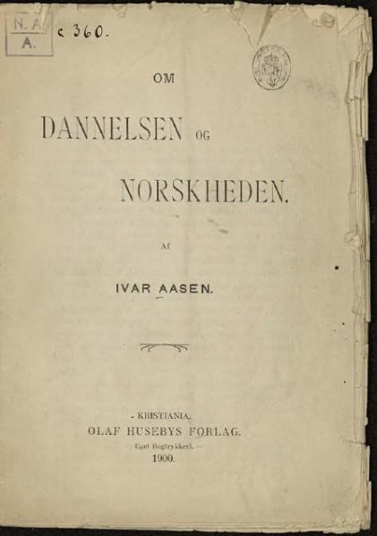File:Om Dannelsen og Norskheden.djvu