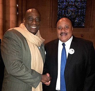 Martin Luther King III - King with opera star and activist Stacey Robinson (left) in 2014.