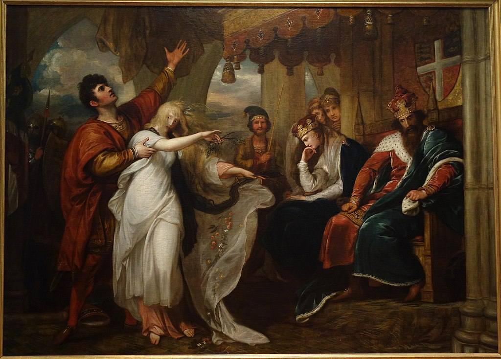 fileophelia and laertes by benjamin west 1792 oil on