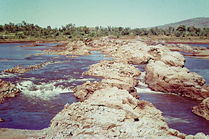 Kununurra, Western Australia - Bandicoot Bar, Ord river before construction of dam started