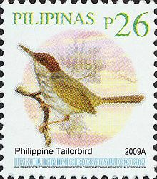 Orthotomus castaneiceps 2009 stamp of the Philippines.jpg