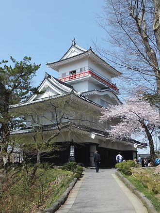 Kubota Domain - Kubota Castle, the seat of the Kubota Domain (Akita Domain)