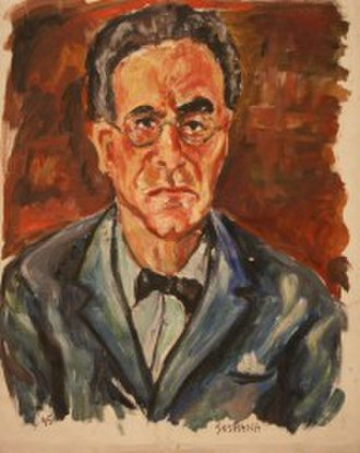 Soshana Afroyim - Otto Klemperer, Conductor; oil on canvas, painted by Soshana Anschluss, 1945