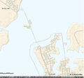 Oxford-Bellevue Ferry route (USGS topology map).png