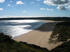Oxwich Bay - Oxwich Bay on the Gower Peninsula of South Wales