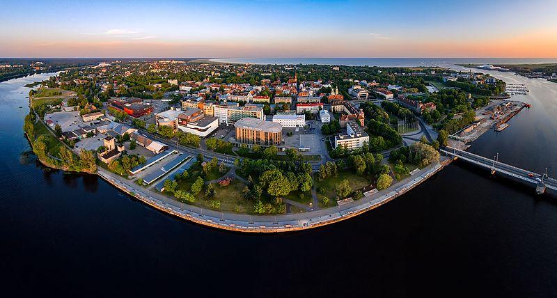 Aerial photo of Pärnu in Estonia