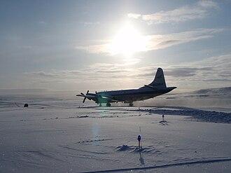 Operation IceBridge - The P-3 Orion aircraft used in Operation IceBridge