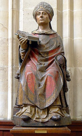Germanus of Auxerre - Saint Germain l'Auxerrois statue