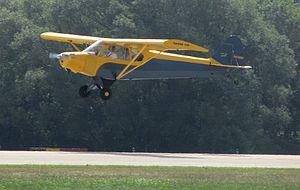 Piper PA-11 - PA-11 landing