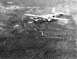 PBJ Mitchell fires rockets from nose tubes at NOTS Inyokern c1949.jpg