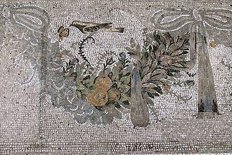 Festoon - Greco-Roman mosaic, c. 150 BC, Pergamon