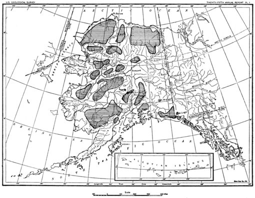 PSM V68 D056 Map of alaska showing unexplored areas in 1905.png