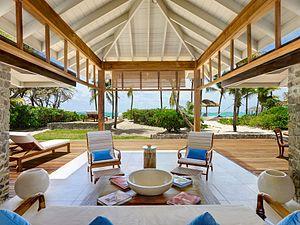 PSV 2 Bed Beach Cottage Lounge Area at Petit St. Vincent Island Resort - The Grenadines, St. Vincent, Caribbean..jpg