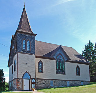 Painesdale, Michigan - Image: Painesdale MI church