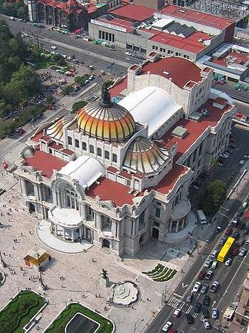 Palacio bellas artes desde torre latino