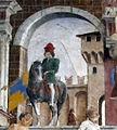 Palazzo schifanoia, salone dei mesi, 04 aprile (f. del cossa), Borso assiste al Palio di San Giorgio e dà moneta al buffone Scoccola 06 5.jpg