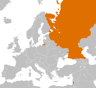 Diplomatic relations between Palestine and Russia